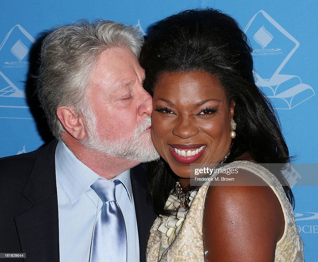 Actress Lorraine Toussaint (R) and her guest attend the 49th Annual Cinema Audio Society Awards 'CAS' at the Millennium Biltmore Hotel on February 16, 2013 in Los Angeles, California.