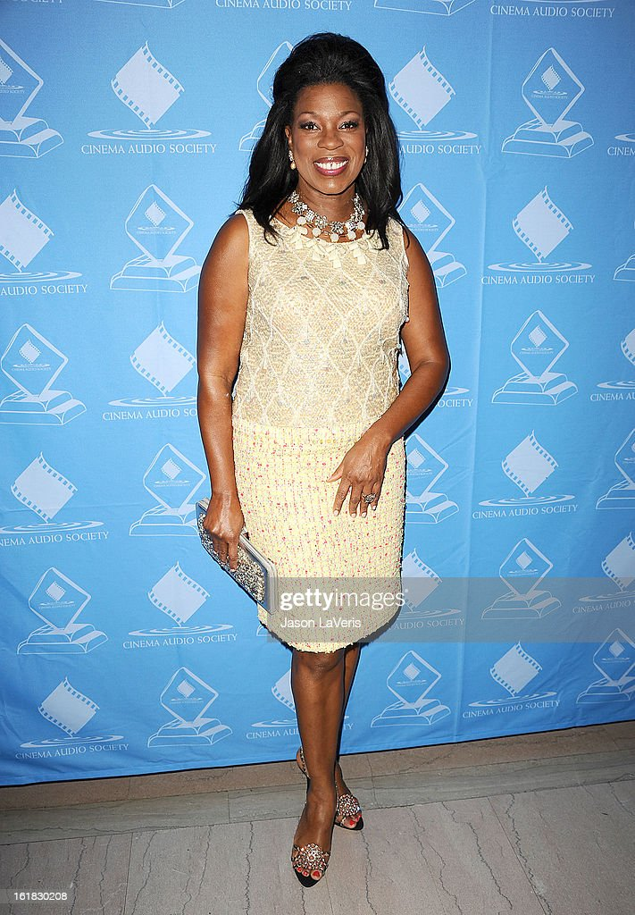 Actress Lorraine Toussaint attends the 49th annual Cinema Audio Society Guild Awards at Millennium Biltmore Hotel on February 16, 2013 in Los Angeles, California.