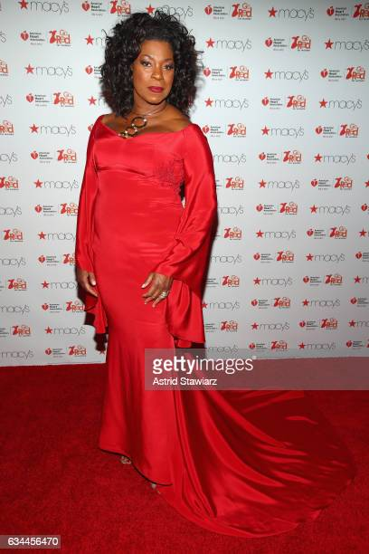 Actress Lorraine Toussaint attends the American Heart Association's Go Red For Women Red Dress Collection 2017 presented by Macy's at Fashion Week in...