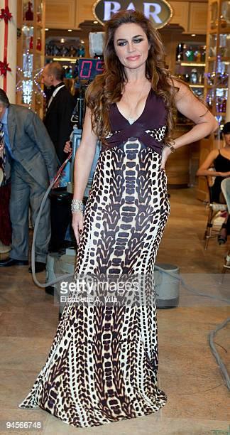 Actress Lory Del Santo attends the Italian TV program '2009 Horoscope' by Paolo Fox at RAI studios on December 16 2009 in Rome Italy