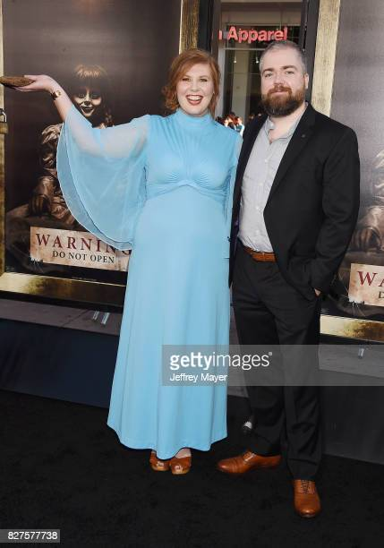 Actress Lotta Losten and director David F Sandberg attend the premiere of New Line Cinema's 'Annabelle Creation' at TCL Chinese Theatre IMAX on...