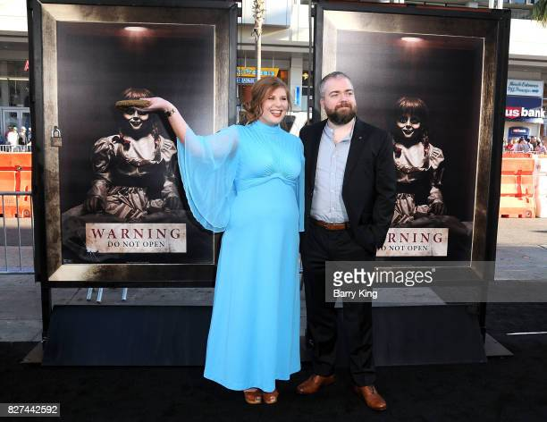 Actress Lotta Losten and husband director David F Sandberg attend the premiere of New Line Cinema's' 'Annabelle Creation' at TCL Chinese Theatre on...
