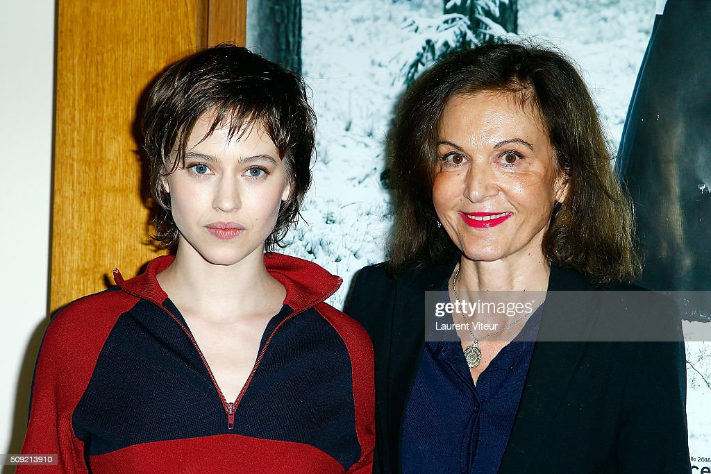 Actress Lou de Laage and Director <a gi-track='captionPersonalityLinkClicked' href=/galleries/search?phrase=Anne+Fontaine&family=editorial&specificpeople=601319 ng-click='$event.stopPropagation()'>Anne Fontaine</a> attend 'Les Innocentes' Paris Premiere at Cinema Arlequin on February 9, 2016 in Paris, France.