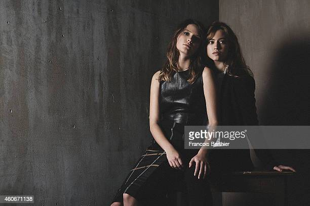 Actress Lou de Laage and Josephine Japy are photographed for Self Assignment on November 5 2014 in Paris France