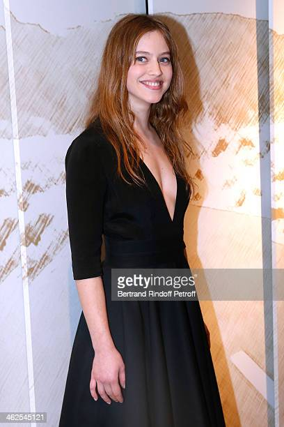 Actress Lou De Laage at the Chaumet's Cocktail Party for Cesar's Revelations 2014 at Musee Chaumet followed by a dinner at Hotel Meurice on January...