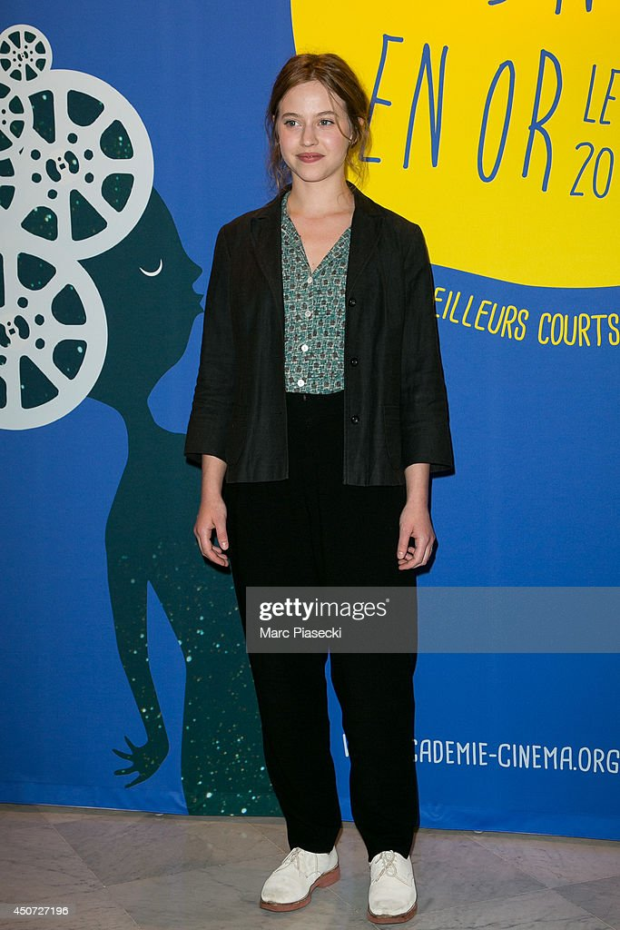 Actress Lou de Laage attends the 'Panorama des Nuits en or' gala dinner UNESCO on June 16, 2014 in Paris, France.