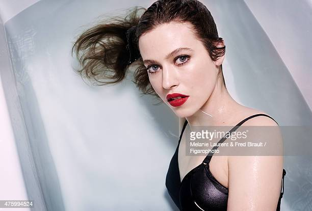 Actress Lou de Laage is photographed for Madame Figaro on April 30 2015 in Paris France Lingerie Makeup by Dior CREDIT MUST READ Melanie Laurent Fred...