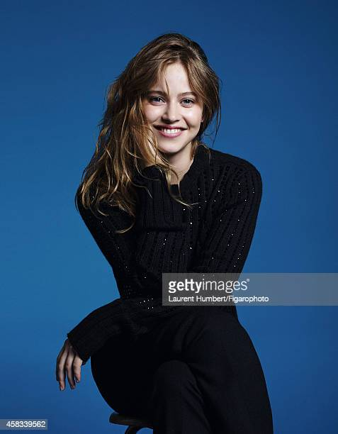 Actress Lou de Laage is photographed for Madame Figaro on September 22 2014 in Paris France Sweater pants Makeup by Dior CREDIT MUST READ Laurent...