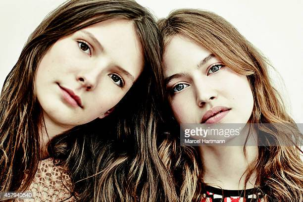 Actress Lou de Laage Josephine Japy and director Melanie Laurent are photographed for Self Assignment on May 15 2014 in Cannes France
