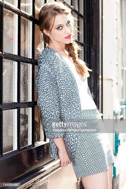 Actress Lou de Laage poses for Madame Figaro on March 30 2012 in Paris France PUBLISHED IMAGE Figaro ID 103703002 Jacket and skirt by Stella...