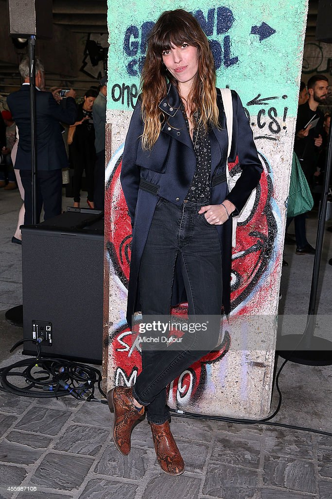 Actress <a gi-track='captionPersonalityLinkClicked' href=/galleries/search?phrase=Lou+Doillon&family=editorial&specificpeople=208822 ng-click='$event.stopPropagation()'>Lou Doillon</a> attends the Anthony Vaccarello show as part of the Paris Fashion Week Womenswear Spring/Summer 2015 on September 23, 2014 in Paris, France.