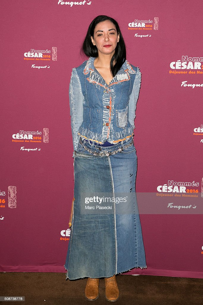 Actress Loubna Abidar attends the 'Cesar 2016- Nominee luncheon' at Le Fouquet's on February 6, 2016 in Paris, France.