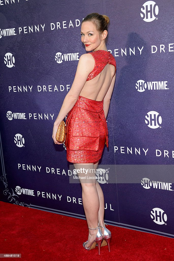Actress <a gi-track='captionPersonalityLinkClicked' href=/galleries/search?phrase=Louisa+Krause&family=editorial&specificpeople=4247635 ng-click='$event.stopPropagation()'>Louisa Krause</a> arrives at Showtime's 'PENNY DREADFUL' world premiere at The High Line Hotel on May 6, 2014 in New York City.