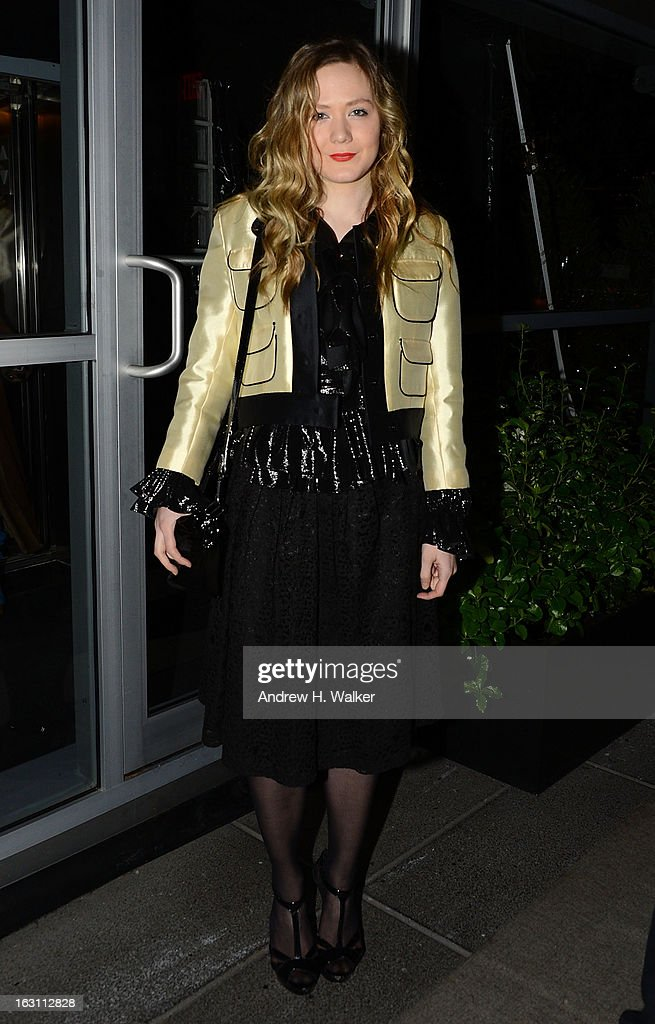 Actress Louisa Krause attends the after party for The Cinema Society & Make Up For Ever screening of 'Electrick Children' at Hotel Americano on March 4, 2013 in New York City.