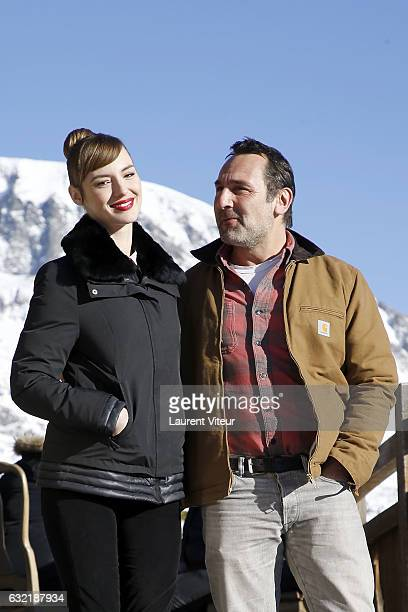 Actress Louise Bourgoin and Actor Gilles Lellouche attend 'Sous le Meme Toit' Photocall At Hotel Chamois d'Or on January 20 2017 in Alpe d'Huez France
