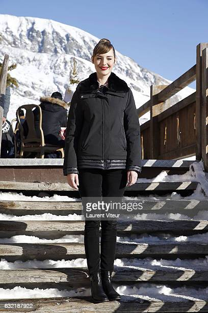 Actress Louise Bourgoin attends 'Sous le Meme Toit' Photocall At Hotel Chamois d'Or on January 20 2017 in Alpe d'Huez France