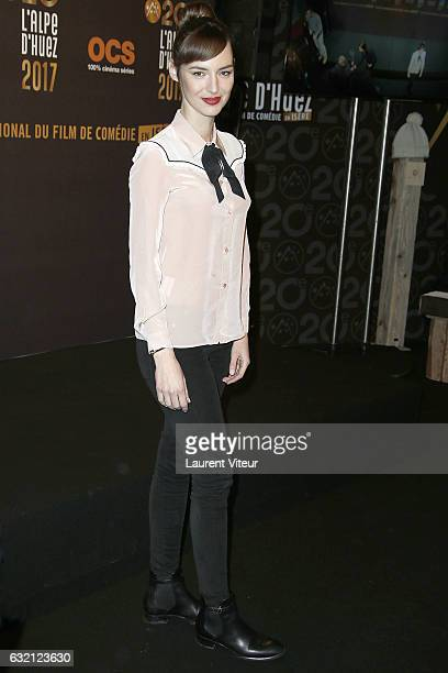 Actress Louise Bourgoin attends 'Sous le Meme Toit' Photocall during tne 20th L'Alpe D'Huez International Film Festival on January 19 2017 in Alpe...