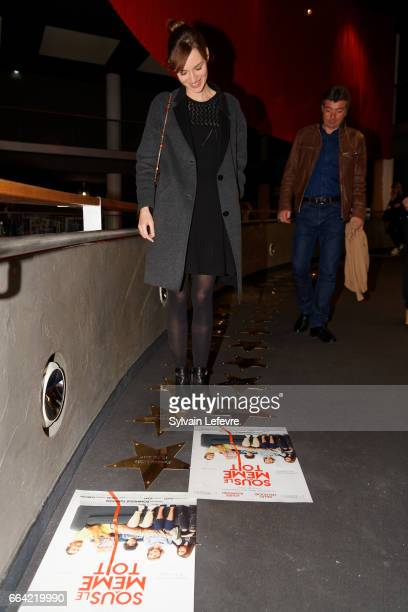 Actress Louise Bourgoin attends 'Sous Le Meme Toit' Premiere at Kinepolis on April 3 2017 in Lille France