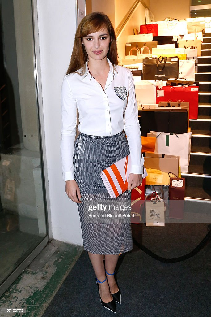 Actress <a gi-track='captionPersonalityLinkClicked' href=/galleries/search?phrase=Louise+Bourgoin&family=editorial&specificpeople=4383765 ng-click='$event.stopPropagation()'>Louise Bourgoin</a> attends the Annual Charity Dinner hosted by the AEM Association Children of the World for Rwanda on December 17, 2013. Held at Espace Pierre Cardin in Paris, France.