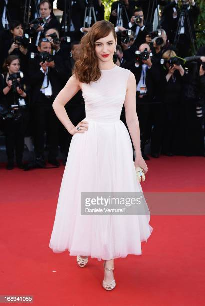 Actress Louise Bourgoin attends the Premiere of 'Le Passe' during The 66th Annual Cannes Film Festival at Palais des Festivals on May 17 2013 in...