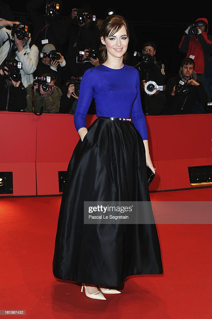 Actress <a gi-track='captionPersonalityLinkClicked' href=/galleries/search?phrase=Louise+Bourgoin&family=editorial&specificpeople=4383765 ng-click='$event.stopPropagation()'>Louise Bourgoin</a> attends the 'The Nun' Premiere during the 63rd Berlinale International Film Festival at Berlinale Palast on February 10, 2013 in Berlin, Germany.