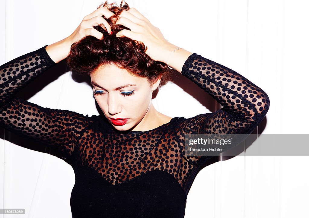 Actress Louise Chabat is photographed for Self Assignment on September 7, 2013 in Paris, France.