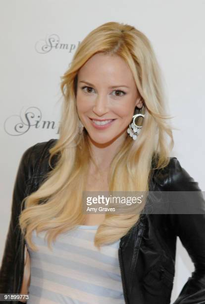 Actress Louise Linton at day 1 of Simply Stylist by Caro Marketing at Siren Orange Studios on October 14 2009 in Los Angeles California