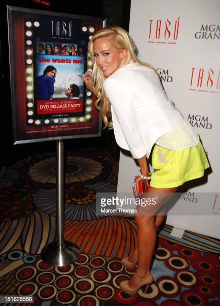 Actress Louise Linton celebrates the DVD release of the movie 'She Wants Me' at Tabu Ultra Lounge at MGM Grand on September 8 2012 in Las Vegas Nevada