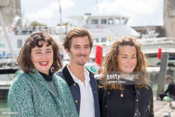 Actress Louise Massin Director Thibaud Ader and Actress Marie Lelong attend 'Loulou' Photocall during the 19th Festival of TV Fiction at La Rochelle...
