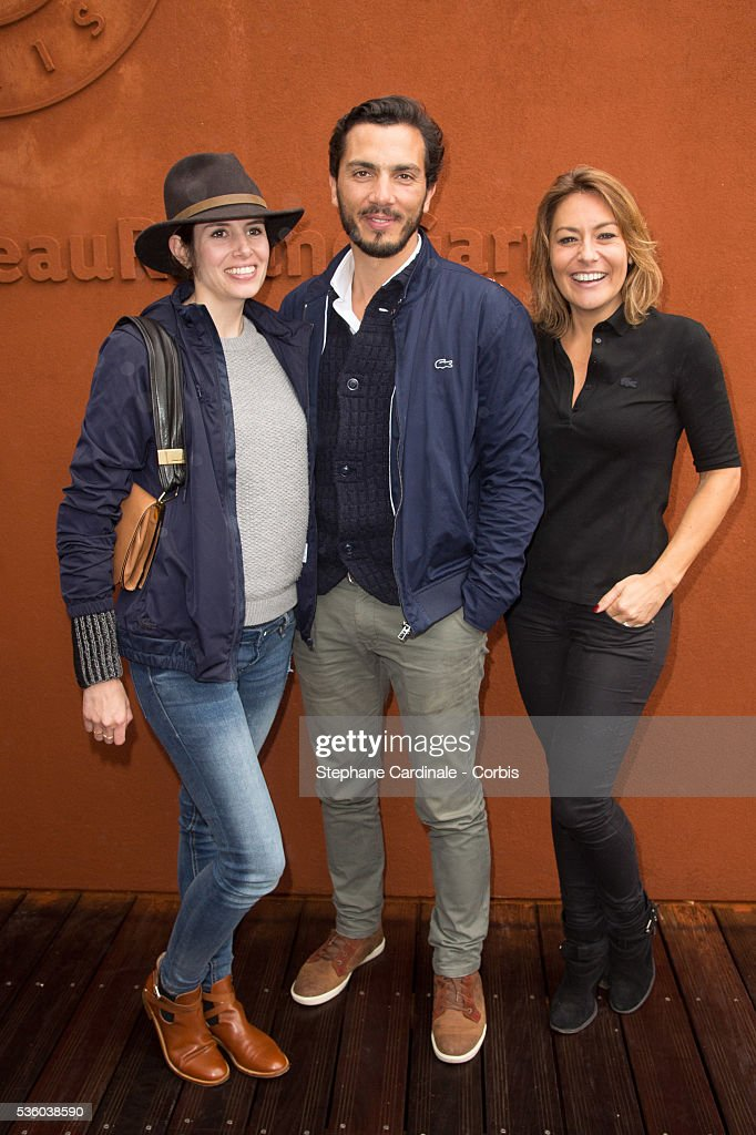 Actress Louise Monot, actor Samir Boitar and actress <a gi-track='captionPersonalityLinkClicked' href=/galleries/search?phrase=Shirley+Bousquet&family=editorial&specificpeople=233802 ng-click='$event.stopPropagation()'>Shirley Bousquet</a> attend day ten of the 2016 French Open at Roland Garros on May 31, 2016 in Paris, France.