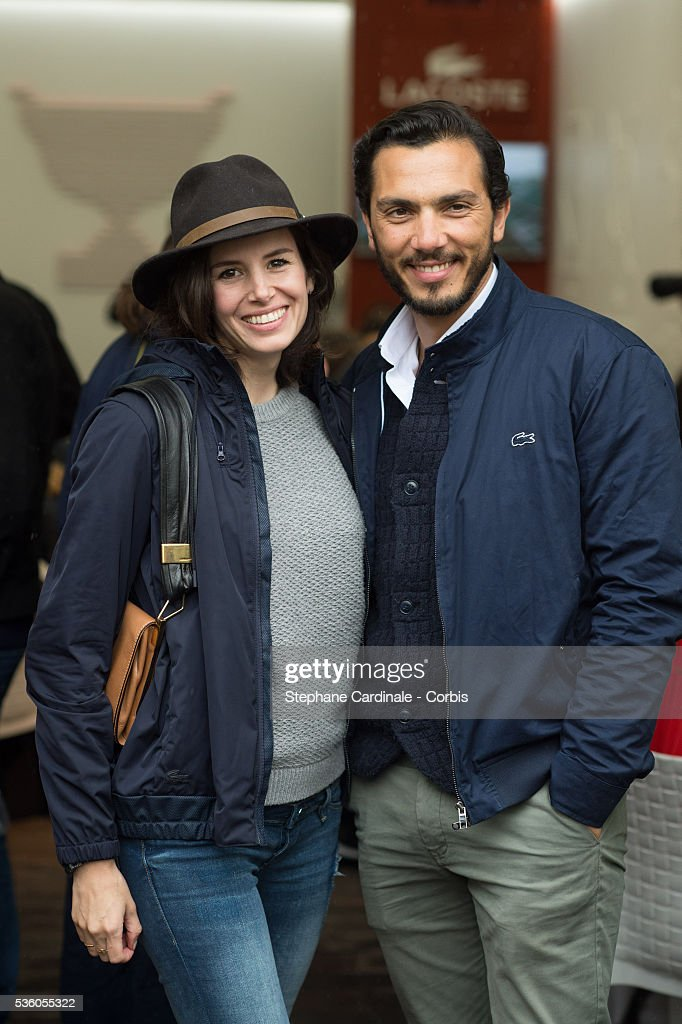 Actress Louise Monot and her companion actor Samir Boitar attend day ten of the 2016 French Open at Roland Garros on May 31, 2016 in Paris, France.