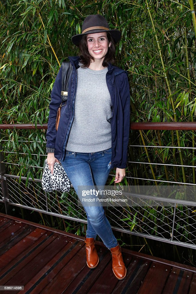 Actress Louise Monot attends Day Ten of the 2016 French Tennis Open at Roland Garros on May 31, 2016 in Paris, France.