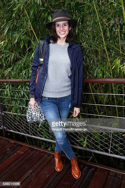 Actress Louise Monot attends Day Ten of the 2016 French Tennis Open at Roland Garros on May 31 2016 in Paris France