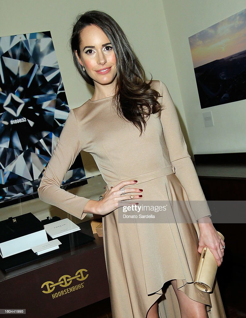Actress Louise Roe attends Hoorsenbuhs for Forevermark Collection cocktail party at Chateau Marmont on January 30, 2013 in Los Angeles, California.