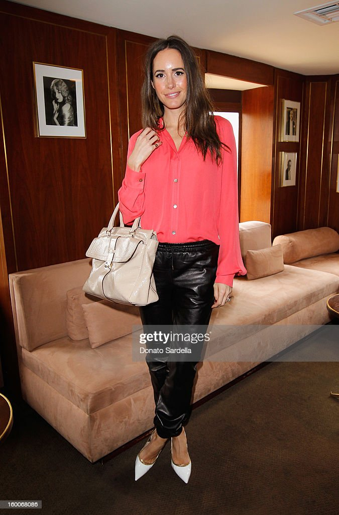 Actress Louise Roe attends the Champagne Taittinger Women in Hollywood Lunch hosted by Vitalie Taittinger at Sunset Tower on January 25, 2013 in West Hollywood, California.