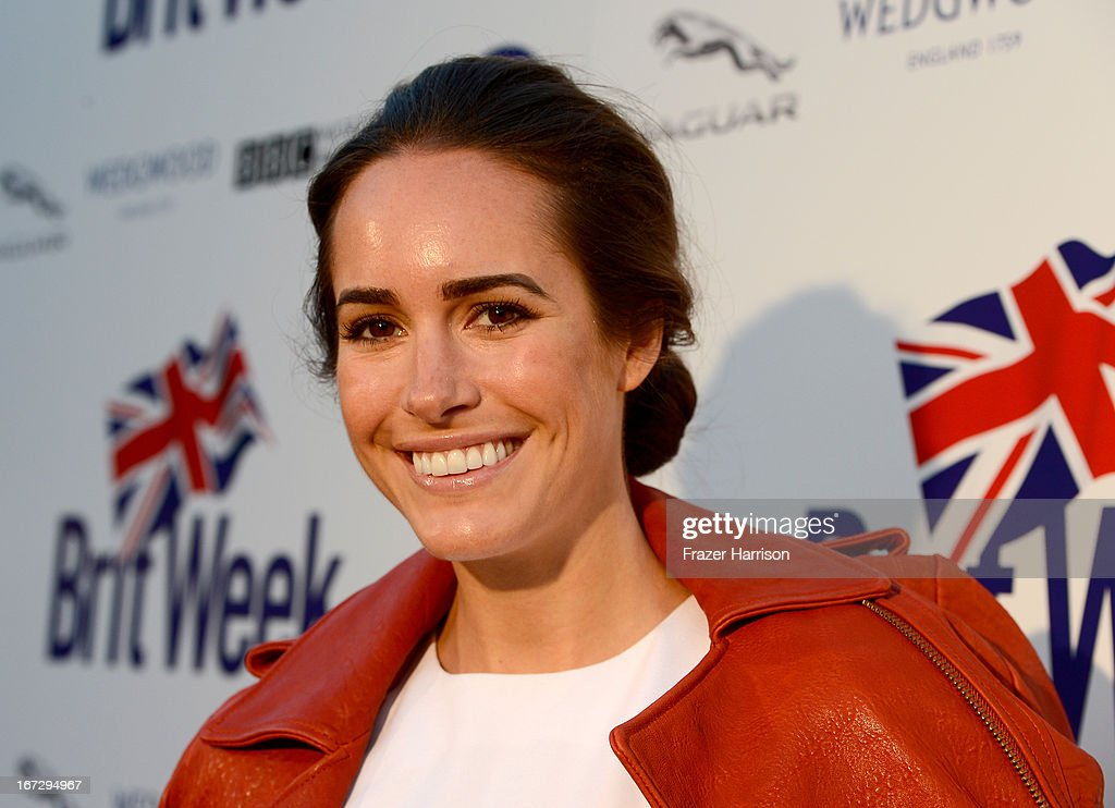 Actress Louise Roe attends the launch of the Seventh Annual BritWeek Festival 'A Salute To Old Hollywood' on April 23, 2013 in Los Angeles, California.