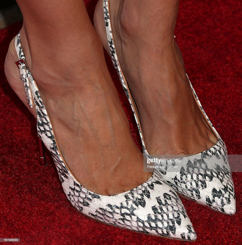 Actress Louise Roe (shoe detail) attends the launch of the Seventh Annual Britweek Festival 'A Salute to Old Hollywood' on April 23, 2013 in Los Angeles, California.