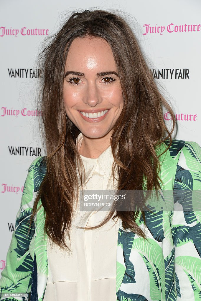 Actress Louise Roe attends the Vanity Fair And Juicy Couture Celebration Of The 2013 Vanities Calendar party at Chateau Marmont February 18, 2013 in West Hollywood, California. AFP PHOTO Robyn BECK