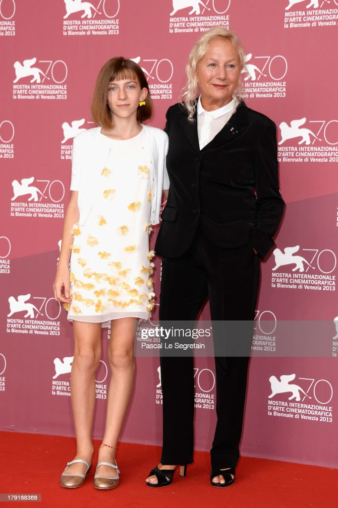 Actress Lou-Lelia Demerliac (L) and writer/Director Agnes B. (R) attend 'Je M'Appelle Hmmm...' Photocall during the 70th Venice International Film Festival at the Palazzo Del Casino on September 1, 2013 in Venice, Italy.