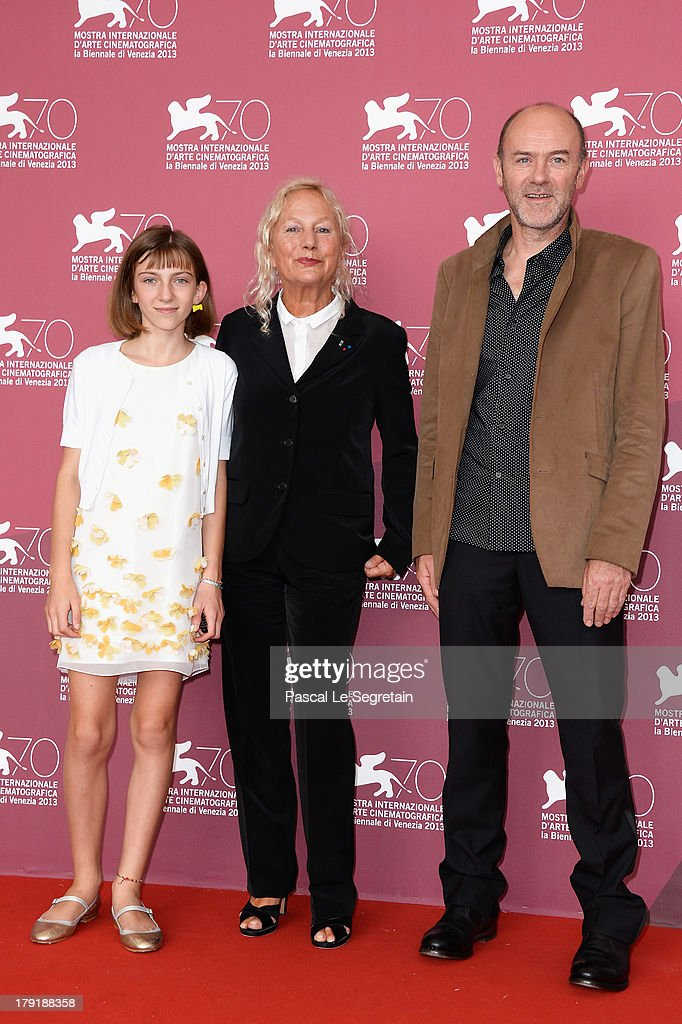 Actress Lou-Lelia Demerliac, writer/Director Agnes B. and actor Jacques Bonnaffe attend 'Je M'Appelle Hmmm...' Photocall during the 70th Venice International Film Festival at the Palazzo Del Casino on September 1, 2013 in Venice, Italy.