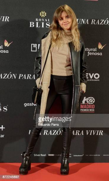 Actress Lucia Diaz attends the 'Una razon para vivir' premiere on November 9 2017 in Madrid Spain