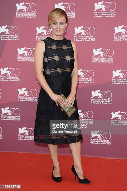 Actress Lucia Mascino attends 'Piccola Patria' Photocall during The 70th Venice International Film Festival at Palazzo del Casino on August 30 2013...