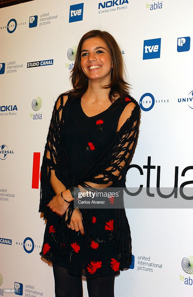Actress Lucia Moniz attends the premiere of his new movie 'Love Actually' at Palacio de la Musica Cinema October 27, 2003 in Madrid.