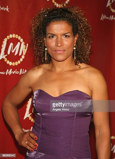 Actress Lucia Rijker arrives at Lifetime Movie Network's premiere of 'Little Girl Lost The Delimar Vera Story' held at The Director's Guild Theater...