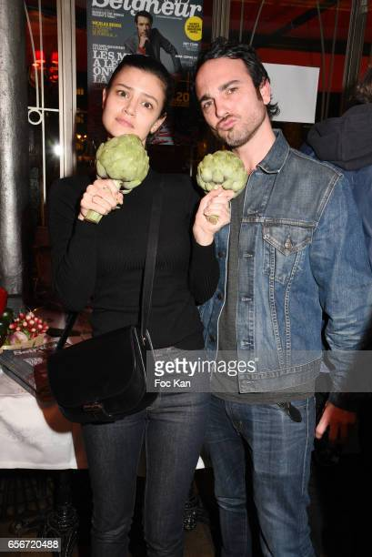 Actress Lucie Boujenah and brother actor Matthieu Boujenah attend 'Apero Mecs A Legumes' Party Hosted by Grand Seigneur Magazine at the Bistrot...