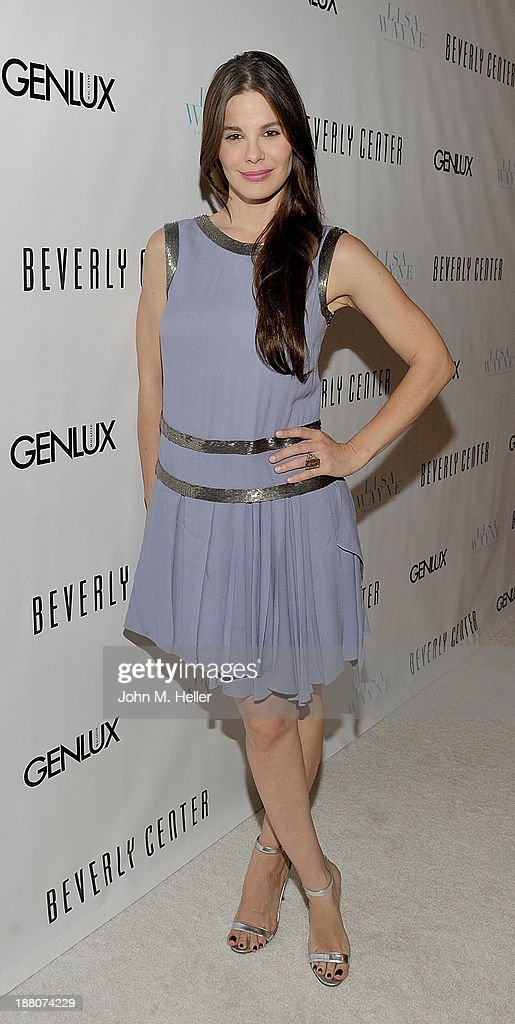 Actress <a gi-track='captionPersonalityLinkClicked' href=/galleries/search?phrase=Lucila+Sola&family=editorial&specificpeople=6898117 ng-click='$event.stopPropagation()'>Lucila Sola</a> attends the GENLUX magazine Launch Event Party at The Beverly Center on November 14, 2013 in Los Angeles, California.