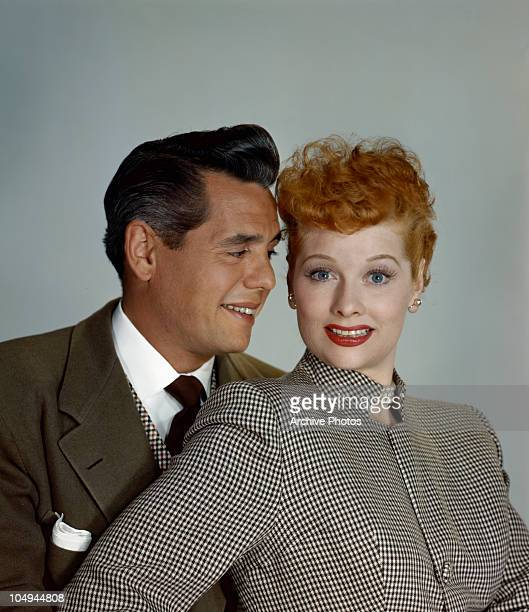 Actress Lucille Ball and her husband actor Desi Arnaz circa 1950's