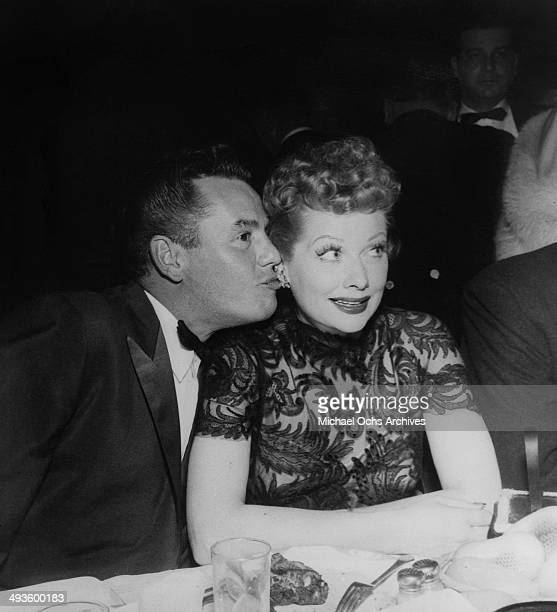 Actress Lucille Ball and husband actor Desi Arnaz attend the TV Emmy Award show in Los Angeles California