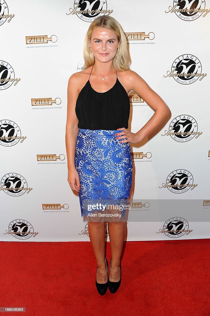 Actress Lucinda Jubb attends the Battaglia's 50th Anniversary of Quality & Elegance Celebration on November 14, 2013 in Beverly Hills, California.