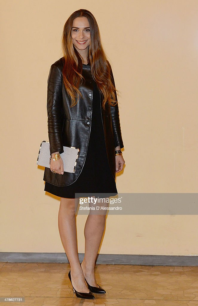 Actress Lucrezia Guidone attends 'Noi 4' Photocall on March 14, 2014 in Milan, Italy.